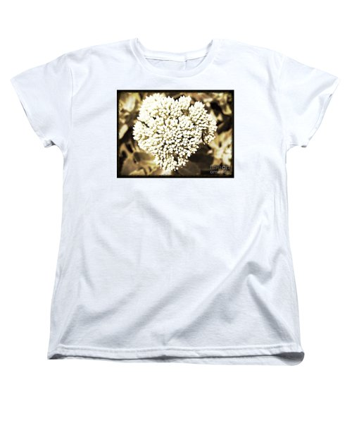 Women's T-Shirt (Standard Cut) featuring the painting Sedum In The Heart by Kimberlee Baxter