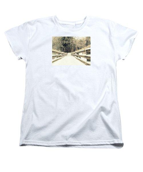 Sepia Winter Land Women's T-Shirt (Standard Cut) by France Laliberte