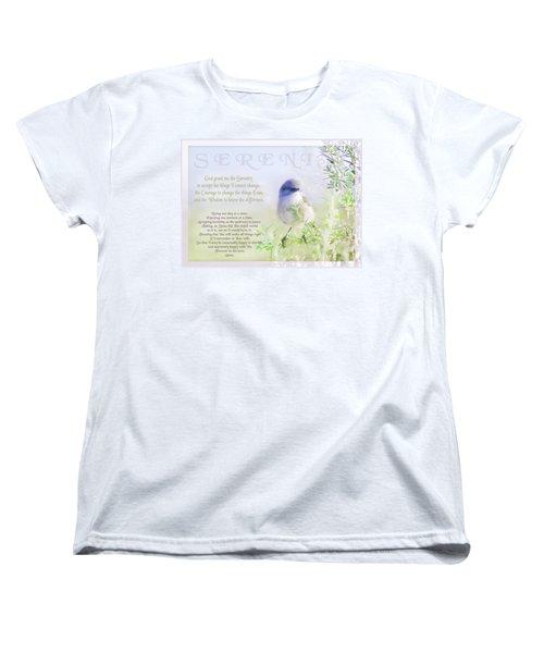 Serenity Prayer Women's T-Shirt (Standard Cut)