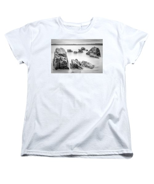 Women's T-Shirt (Standard Cut) featuring the photograph Seselle Beach Galicia Spain by Pablo Avanzini