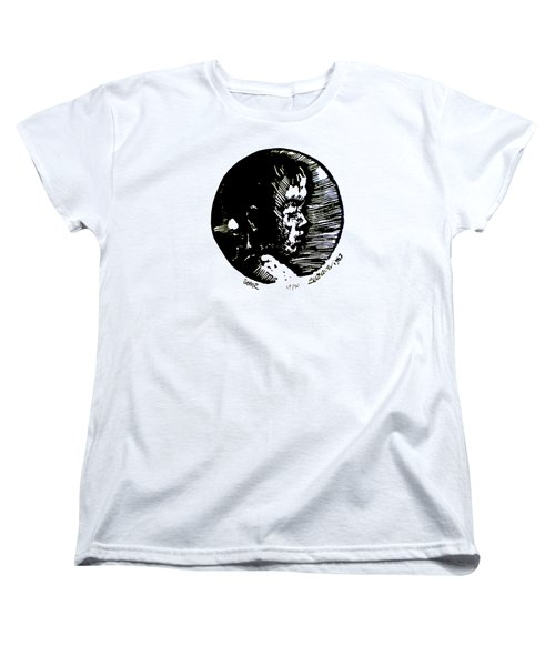 Women's T-Shirt (Standard Cut) featuring the relief Seth 2 by Seth Weaver