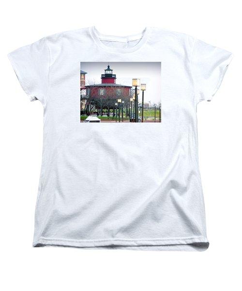 Women's T-Shirt (Standard Cut) featuring the photograph Seven Foot Knoll Lighthouse by Brian Wallace