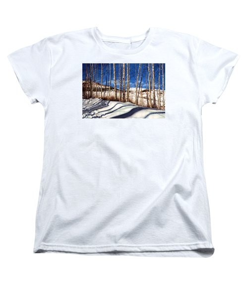 Women's T-Shirt (Standard Cut) featuring the painting Shadow Dance by Barbara Jewell