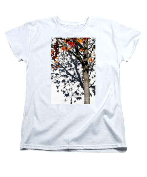 Women's T-Shirt (Standard Cut) featuring the photograph Shadows Of Fall by CML Brown