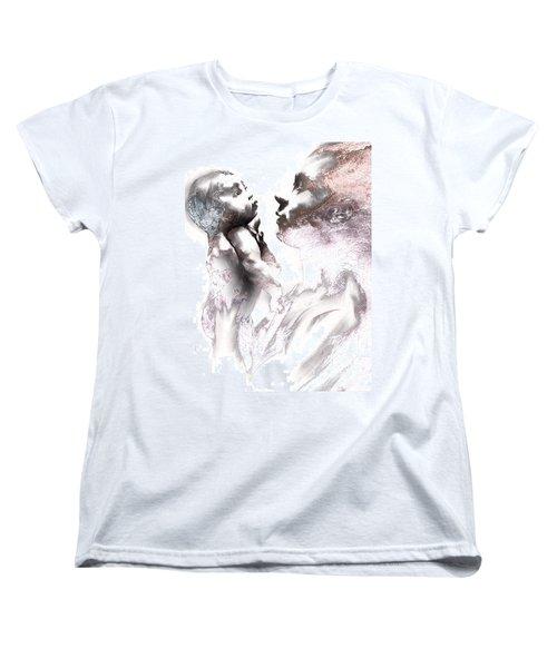 Shadowtwister Reflections Textured Women's T-Shirt (Standard Cut) by Paul Davenport