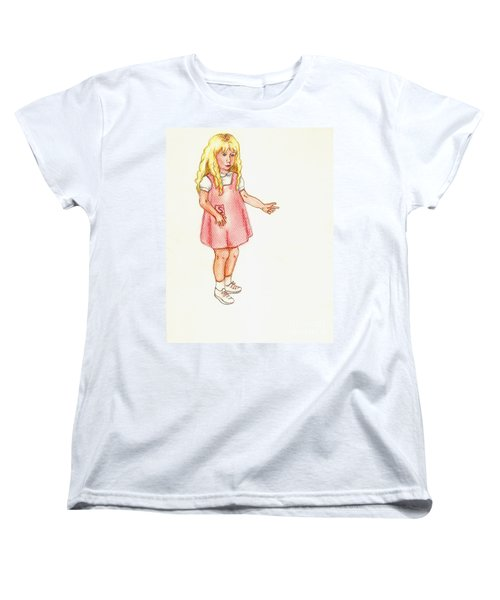 Women's T-Shirt (Standard Cut) featuring the pastel Shez by Kim Pate