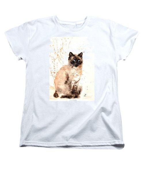 Siamese Beauty Women's T-Shirt (Standard Cut) by Zaira Dzhaubaeva