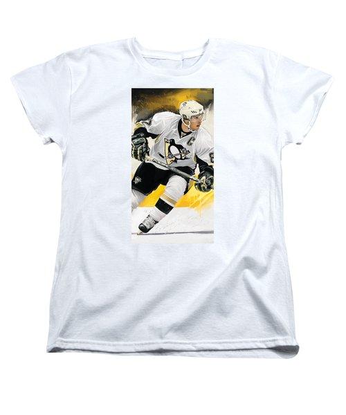 Sidney Crosby Artwork Women's T-Shirt (Standard Cut) by Sheraz A