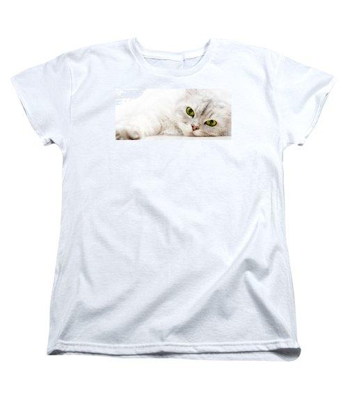 Silver Shaded Persian Women's T-Shirt (Standard Cut) by Carsten Reisinger