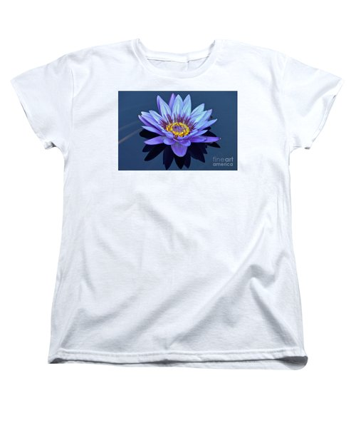 Single Lavender Water Lily Women's T-Shirt (Standard Cut) by Byron Varvarigos