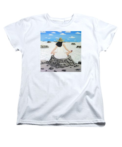 Sippin' On Top Of The World Women's T-Shirt (Standard Cut) by Lance Headlee