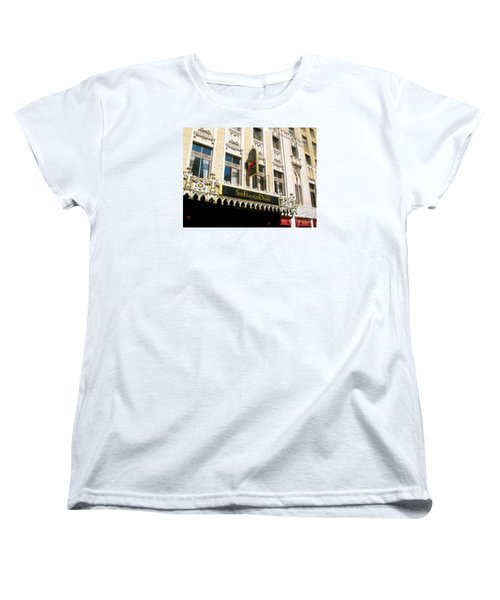 Women's T-Shirt (Standard Cut) featuring the photograph Sir Francis Drake Hotel by Connie Fox