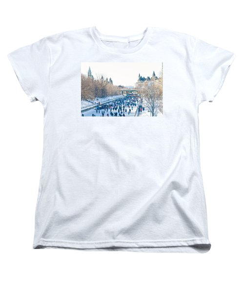 Skating Women's T-Shirt (Standard Cut) by Cheryl Baxter