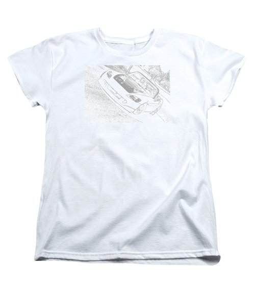 Sketched S2000 Women's T-Shirt (Standard Cut) by Eric Liller
