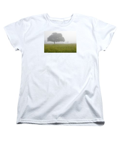 Skc 0056 Tree In Fog Women's T-Shirt (Standard Cut) by Sunil Kapadia