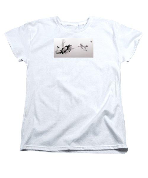 Skydiver Women's T-Shirt (Standard Cut) by Angel Ortiz