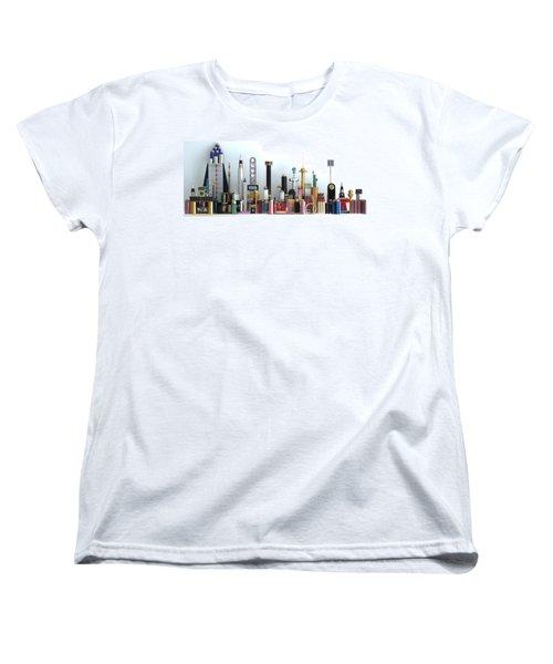 Skyline Sculpture Women's T-Shirt (Standard Cut) by Ron Davidson