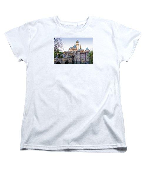 Sleeping Beauty Castle Disneyland Side View Women's T-Shirt (Standard Cut) by Thomas Woolworth
