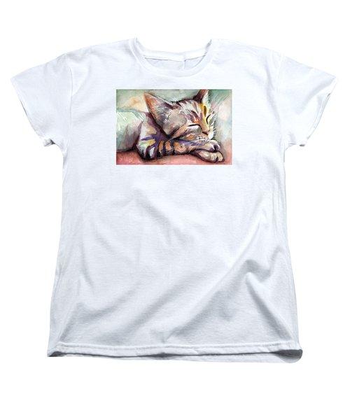 Sleeping Kitten Women's T-Shirt (Standard Fit)
