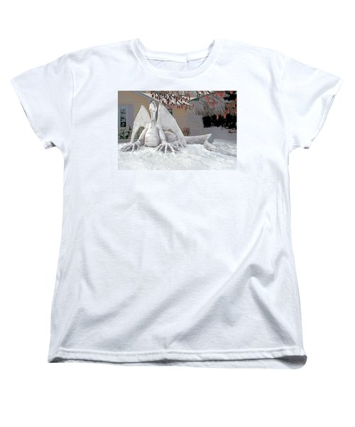 Snow Dragon 3 Women's T-Shirt (Standard Cut) by Terry Reynoldson
