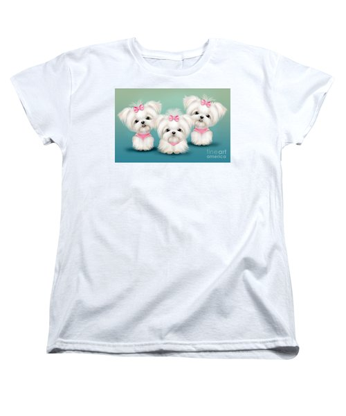 Snowflakes  Women's T-Shirt (Standard Cut) by Catia Cho
