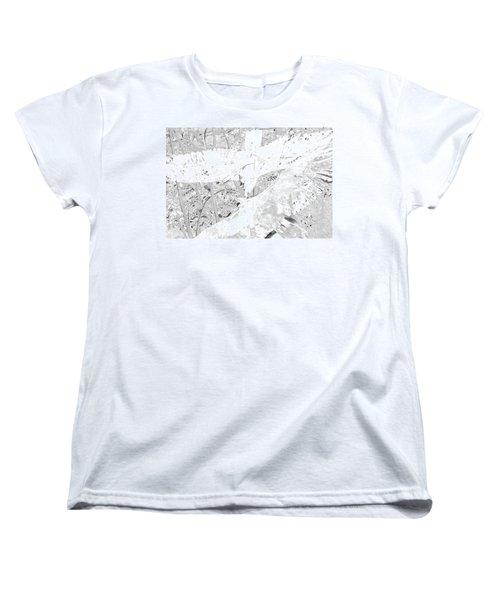 Soaring Hawks Indian Spirit White Gold Women's T-Shirt (Standard Cut) by Deprise Brescia