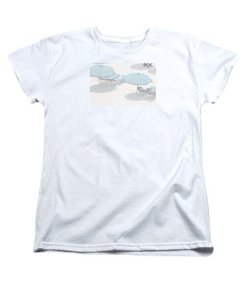 Women's T-Shirt (Standard Cut) featuring the photograph Some Beach        Somewhere by Susan  McMenamin