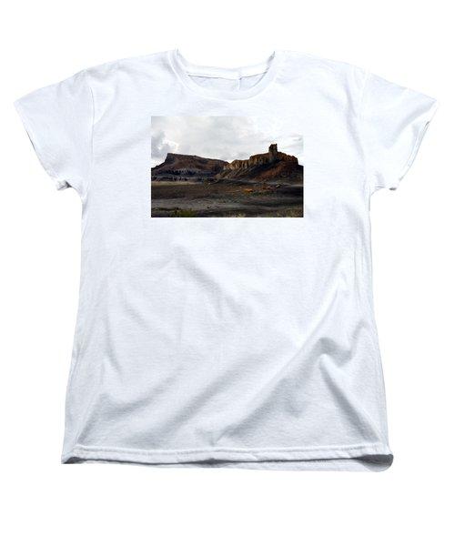 Source Of The Mud Flood Women's T-Shirt (Standard Cut) by Lon Casler Bixby