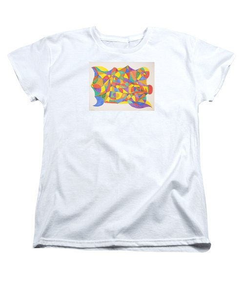 Women's T-Shirt (Standard Cut) featuring the painting Space Craft by Stormm Bradshaw