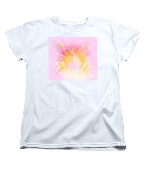 Women's T-Shirt (Standard Cut) featuring the photograph Sparkling Starlight Burst Abstract by Judy Palkimas