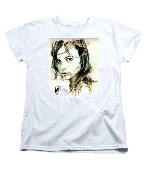 Special Friend Portrait Women's T-Shirt (Standard Cut) by Alban Dizdari