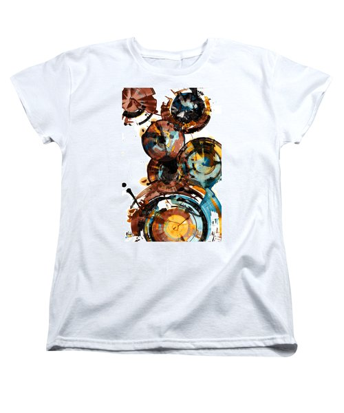 Women's T-Shirt (Standard Cut) featuring the painting Spherical Happiness Series - 993.042212 by Kris Haas