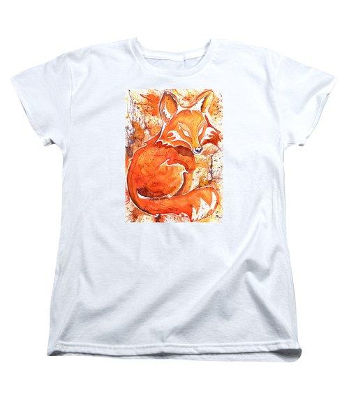 Spirit Of The Fox Women's T-Shirt (Standard Cut) by D Renee Wilson
