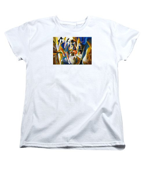 Women's T-Shirt (Standard Cut) featuring the painting Spirited Away by Georg Douglas
