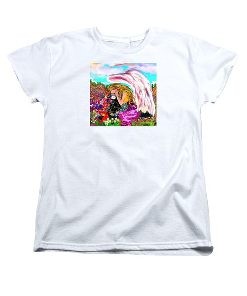 Women's T-Shirt (Standard Cut) featuring the drawing Spiritual Awakening  by Lori  Lovetere