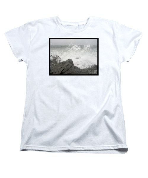 Women's T-Shirt (Standard Cut) featuring the photograph Splash And Gray by Glenn McCarthy Art and Photography