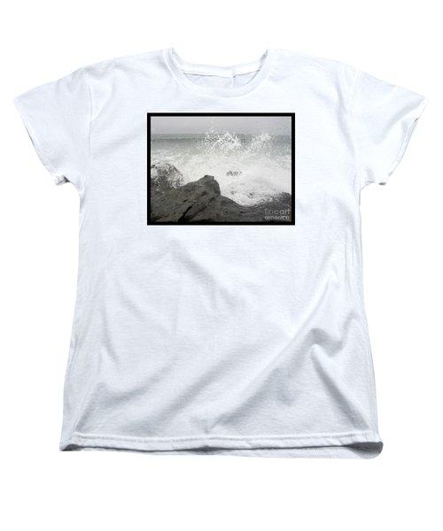 Splash And Gray Women's T-Shirt (Standard Cut) by Glenn McCarthy Art and Photography