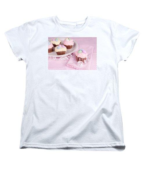 Cupcakes With A Spring Theme Women's T-Shirt (Standard Cut) by Vizual Studio