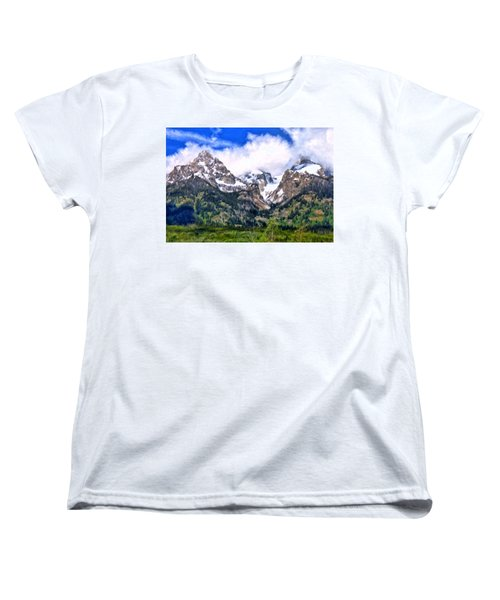 Spring In The Grand Tetons Women's T-Shirt (Standard Cut) by Michael Pickett