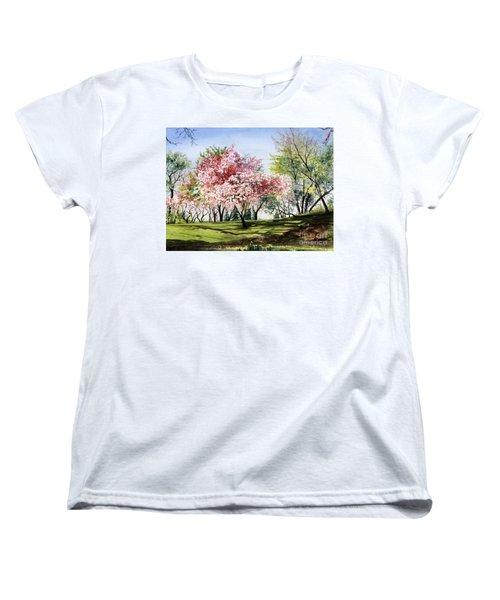Spring Morning Women's T-Shirt (Standard Cut) by Barbara Jewell