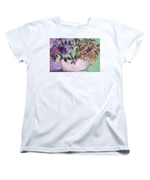Springtime Basket Women's T-Shirt (Standard Cut) by Vickie G Buccini