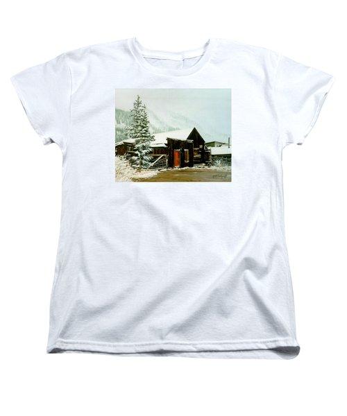 St Elmo Snow Women's T-Shirt (Standard Cut) by Craig T Burgwardt