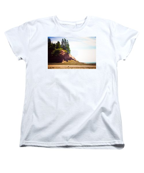 Women's T-Shirt (Standard Cut) featuring the photograph St. Martin's Sea Caves by Sara Frank