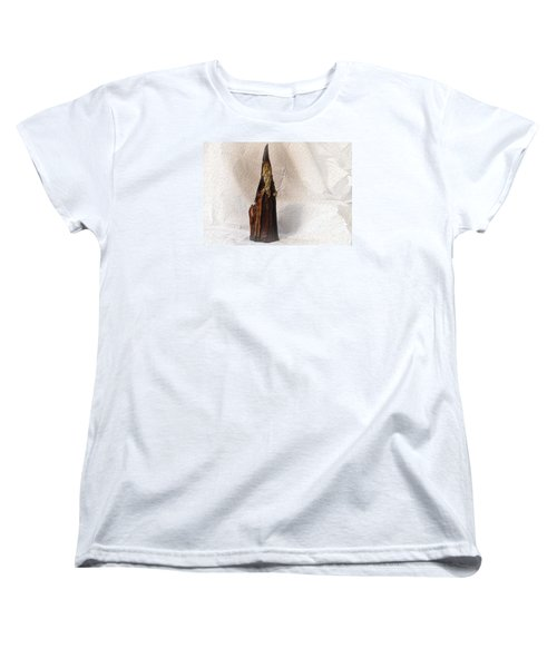 Women's T-Shirt (Standard Cut) featuring the photograph St Nicholas With Fawn by Nadalyn Larsen