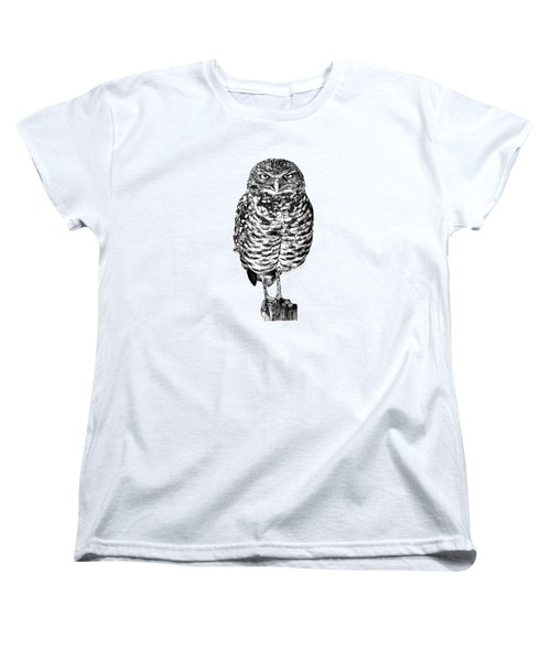 041 - Owl With Attitude Women's T-Shirt (Standard Cut) by Abbey Noelle