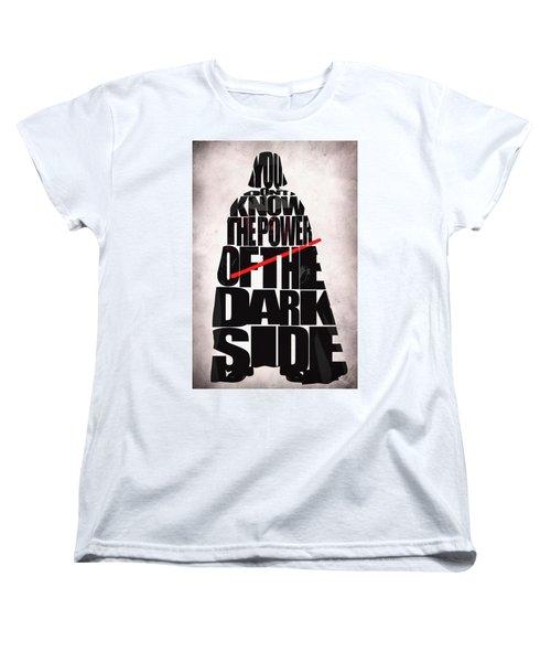 Star Wars Inspired Darth Vader Artwork Women's T-Shirt (Standard Cut) by Ayse Deniz