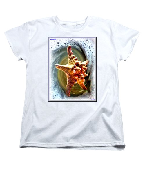 Women's T-Shirt (Standard Cut) featuring the digital art Starfish by Daniel Janda