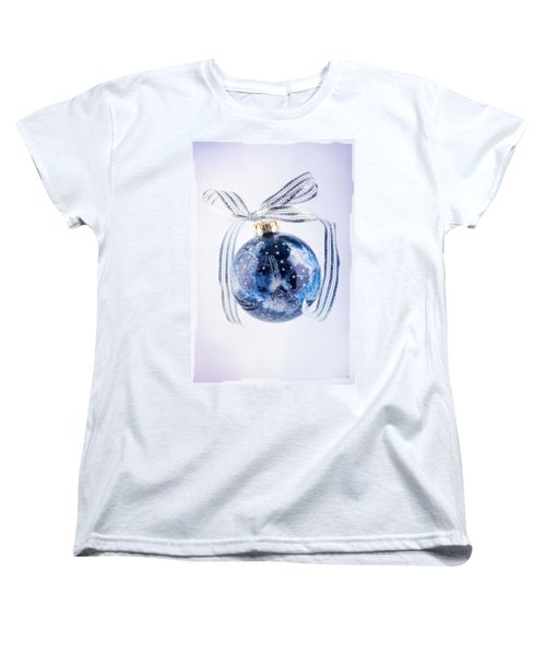 Christmas Ornament With Stars Women's T-Shirt (Standard Cut) by Vizual Studio