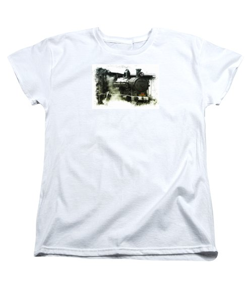 Women's T-Shirt (Standard Cut) featuring the photograph Steam 01 by Kevin Chippindall