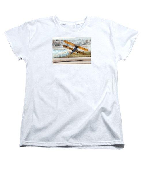Stearman Model 75 Biplane Women's T-Shirt (Standard Cut) by Alan Toepfer